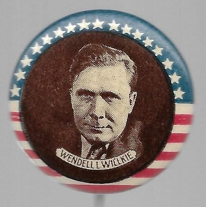 Willkie Stars and Stripes, Brown Background