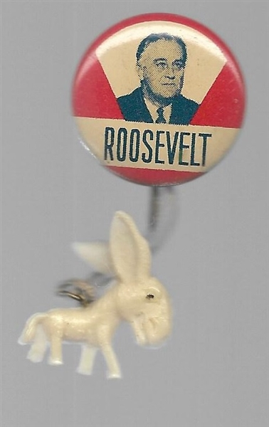 Roosevelt Litho with Attached Donkey