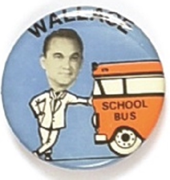 George Wallace School Bus Pin