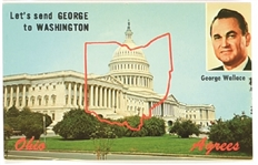 Lets Send George Wallace to Washington Postcard
