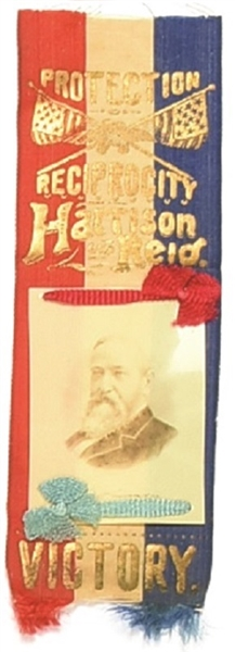 Benjamin Harrison Ribbon and Celluloid
