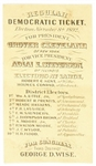 Grover Cleveland 1892 Virginia Ballot