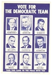 Lyndon Johnson, Ted Kennedy Massachusetts Election Card
