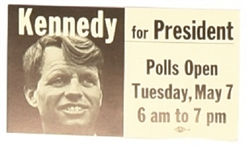 Robert Kennedy Indiana Election Card