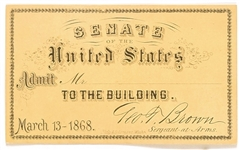 Andrew Johnson Impeachment Ticket