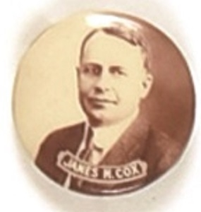 James M. Cox Smaller Size Sepia Pin