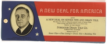 FDR New Deal for America Blotter