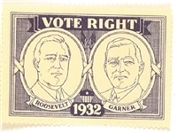 Roosevelt, Garner Vote Right Stamp