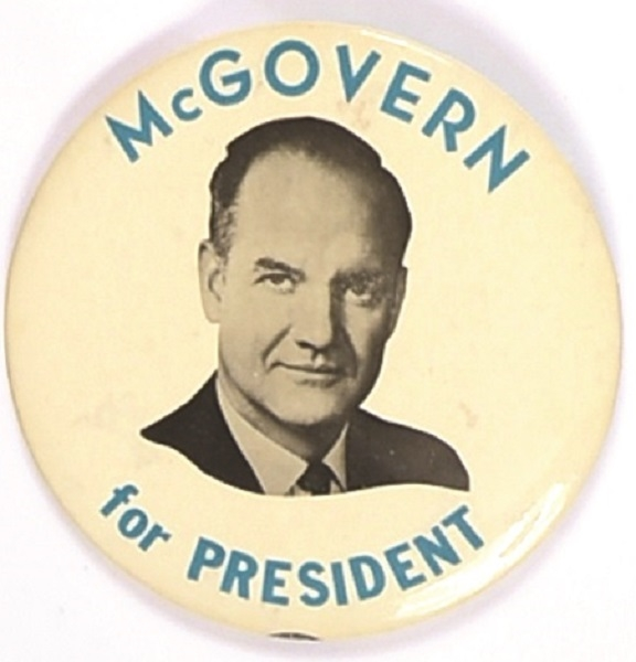 McGovern for President Scarce 1968 Celluloid