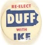 Re-Elect Duff With Ike Pennsylvania Coattail