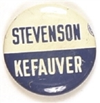 Stevenson and Kefauver Blue and White Litho