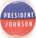 President Johnson RWB 1968 Pin