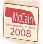 McCain 2008 Convention Nebraska Pin