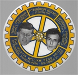 JFK, Steve Russell Pittsburgh Rotary Speech Pin