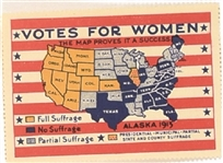Votes for Women USA Map Stamp