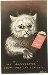 Suffragette, Down with the Tom Cats Postcard