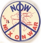 Nix On War Anti Vietnam War Pin