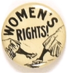 Womens Rights, Black and White Suffrage Cartoon Pin