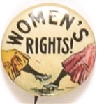 Womens Rights, Color Suffrage Cartoon Pin