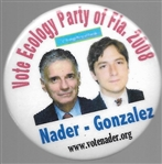 Nader, Gonzalez Ecology Party of Florida