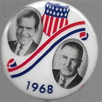 Nixon, Agnew 1968 Shield and Swirl