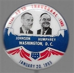 Johnson, Humphrey Inaugural Jugate