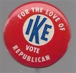 Give Ike Your Congressman Bullseye Pin