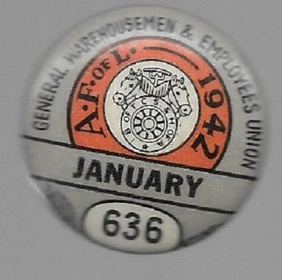 Teamsters 1942 Labor Union Pin