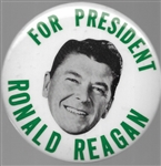 Reagan for President Green 1968 Floating Head Pin