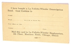 LaFollette Contribution Card