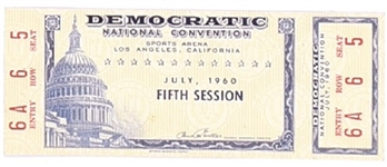 John F. Kennedy 1960 Convention Ticket