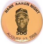 Hank Aaron Night 500 Home Runs