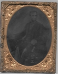 Abraham Lincoln Large Tintype