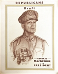 Draft MacArthur for President Poster