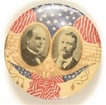 McKinley-Roosevelt Round Musical Notes Celluloid