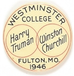 Truman, Churchill Westminster College Pin
