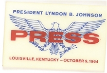 Johnson Louisville 1964 Press Badge