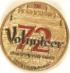 McGovern 1972 Convention Volunteer Badge