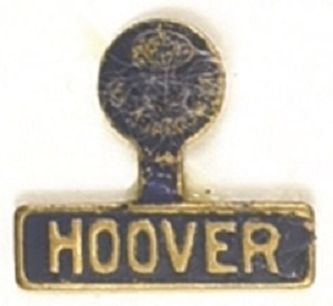 Hoover Blue and Gold Litho Tab