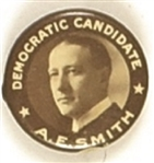 A.E. Smith Democratic Candidate, Early New York Pin