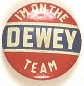 I'm on the Dewey Team