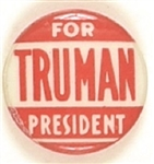 Truman for President Red Celluloid