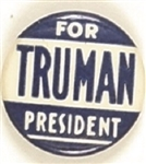 Truman for President Blue Celluloid