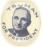Truman for President Scarce Celluloid Picture Pin