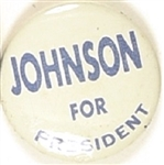 Johnson for President Blue, White Litho