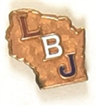 Johnson LBJ Wisconsin Enamel Pin