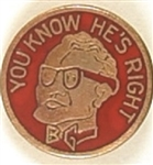 Goldwater You Know Hes Right Enamel Pin