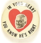 Goldwater In Your Heart Classic 1 Inch Celluloid