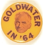 Goldwater Purple and Yellow Celluloid