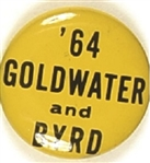 Goldwater and Byrd Green Virginia Celluloid